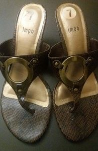 Worn once thong sandals